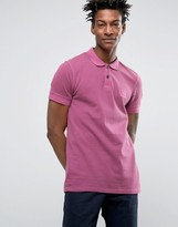 BOSS ORANGE by Hugo Boss Slim Polo Washed Pique in Pink