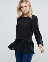 d.RA Leslie Pleated Hem Shirt