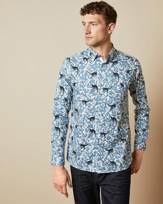 Ted Baker Monkey Print Cotton Shirt
