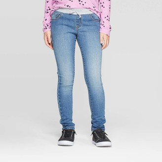 Cat & Jack Girls' Knit Waist Jeans - Cat & JackTM Medium Wash