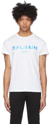 Balmain White Hologram Logo T-Shirt