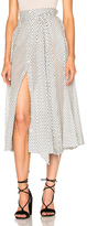 Lisa Marie Fernandez Beach Skirt in Geometric Print,White.