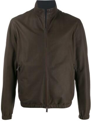 Ermenegildo Zegna Zip-Up Leather Jacket
