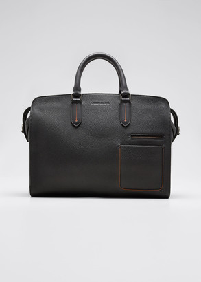 Ermenegildo Zegna Men's Large Leather Blazer Briefcase