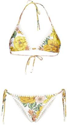 Zimmermann Floral Print Bikini Set