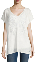 Calypso St. Barth Motili Linen Lace Embroidered Tee