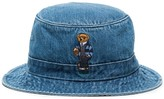Polo Ralph Lauren Teddy Bear embroidered denim bucket hat
