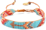 Mishky Turquoise & Red Arrow Track Bead Bracelet