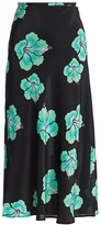 Rixo Kelly Floral Silk Midi Skirt