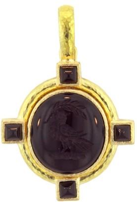 Elizabeth Locke Stone Intaglio Onyx 'Bird' Pendant