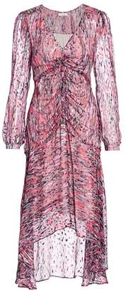 Parker Priscilla Batik-Print Burnout Dress