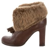 Viktor & Rolf Shearling-Trimmed Ankle Booties