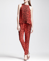 A.L.C. Thompson Silk Leopard Pants