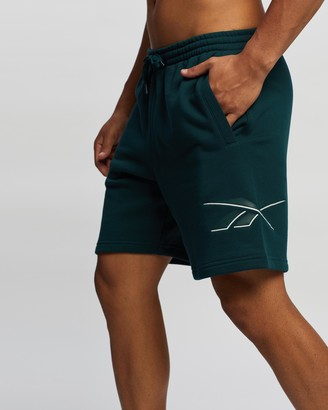 Reebok Men's Green Shorts - Classics Knitted Shorts - Size M at The Iconic