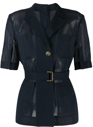 Eudon Choi Short-Sleeved Sheer Jacket