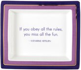 "Twos Company Two's Company Wise Sayings Desk Tray, ""If you obey all the rules"" - Multicolor"