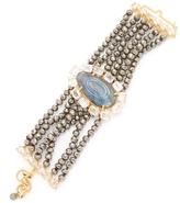 Bounkit Women's Pyrite, Labradorite & Quartz Statement Bracelet