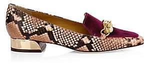 Tory Burch Women's Jessa Snakeskin-Embossed Loafers