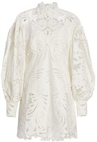 Zimmermann Wavelength Embroidered Lace Mini Dress