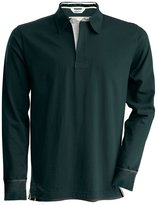 Kariban Vintage Mens Plain Long Sleeve Rugby Shirt (XL)