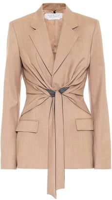 Gabriela Hearst Grant wool wrap blazer
