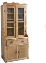 Rejuvenation Tall Tambour Pine Floor Cabinet