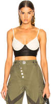 Alexander Wang Lace Bra with Leather
