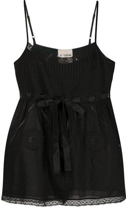 Semi-Couture Lace-Embellished Sleeveless Top