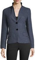Kiton Menswear Dotted Cashmere Two-Button Jacket