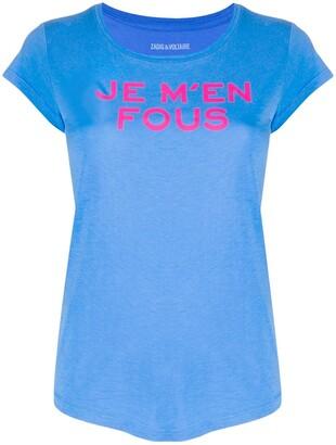 Zadig & Voltaire Je M'en Fous print T-shirt