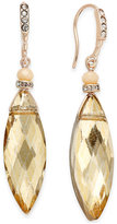 INC International Concepts Gold-Tone Pave & Navette Crystal Drop Earrings, Created for Macy's