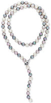 Majorica Sterling Silver Imitation Pearl Lariat Necklace