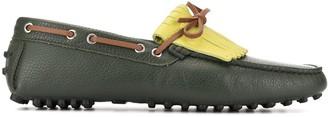 Manolo Blahnik Colour Block Loafers