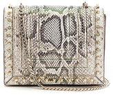Luana Italy Clio Snake-Print Flap Cross-Body Bag