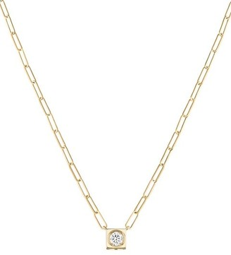 Dinh Van Le Cube 18K Yellow Gold & Diamond Large Pendant Necklace