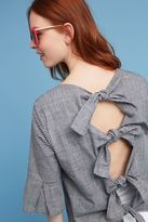Anthropologie Aaliyah Bow-Back Blouse