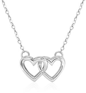 Rhona Sutton 4 Kids Children's Double Heart Pendant Necklace in Sterling Silver