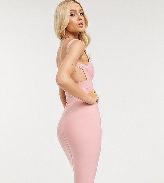 Band Of Stars exclusive bandage midi dress in pink