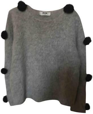 MSGM Grey Wool Knitwear for Women