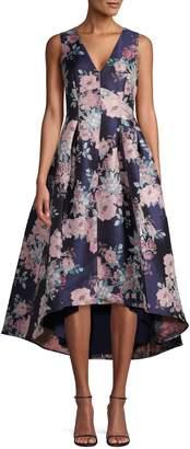 Eliza J Floral Jacquard High-Low Dress
