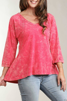 Casual Studio Bright Pink Flared Top