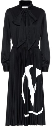 Valentino VLOGO jersey midi dress