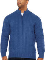 Izod Collar Neck Long Sleeve Pullover Sweater - Big and Tall