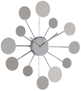 Torre & Tagus Orbit Floating Chrome Disc Wall Clock