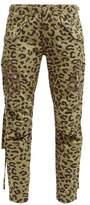MHI Leopard And Camo-print Cotton-twill Cargo Trousers - Womens - Leopard