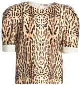 ADAM by Adam Lippes Leopard-Print Wool Top