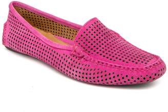 Patricia Green Barrie Lasercut Suede Loafer