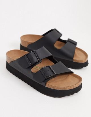 Birkenstock Papillio Arizona flatform sandals in black