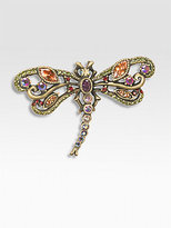 Jay Strongwater Crystal Dragonfly Pin/Small