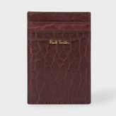 Paul Smith Men's Damson Heavy Grained Leather Credit Card Holder
